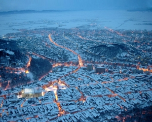 Brasov, Romania in winter